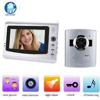 7 Wired Video Door Phone Home Security Intercom System Doorphone With Waterproof Outdoor IR Camera Night