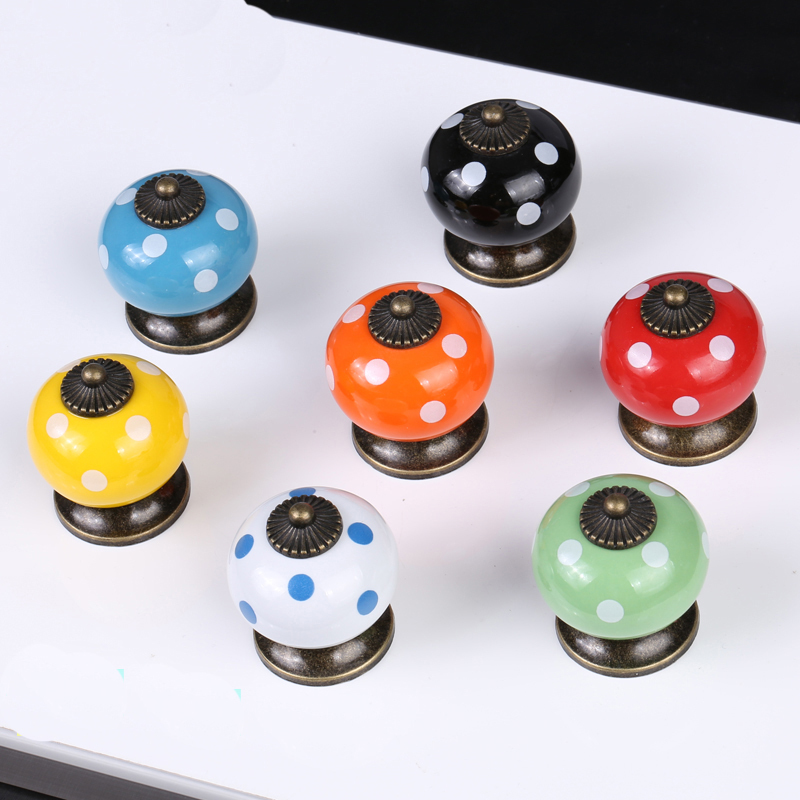 decorative kitchen cabinet knobs furniture knobs handle ceramic dot cabinet door cupboard 14584