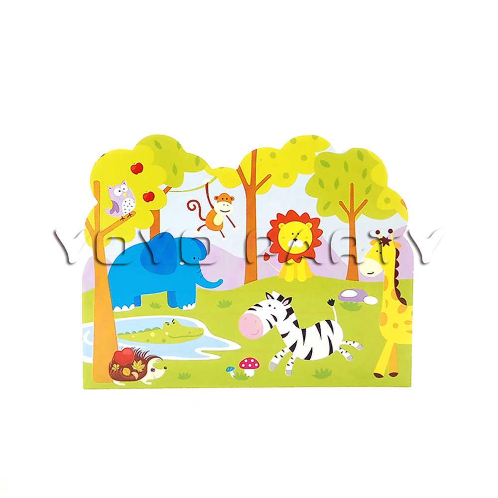For Kids Children Safari Jungle Animals Theme Birthday Party Supplies Decoration 12pcs Invitation Card