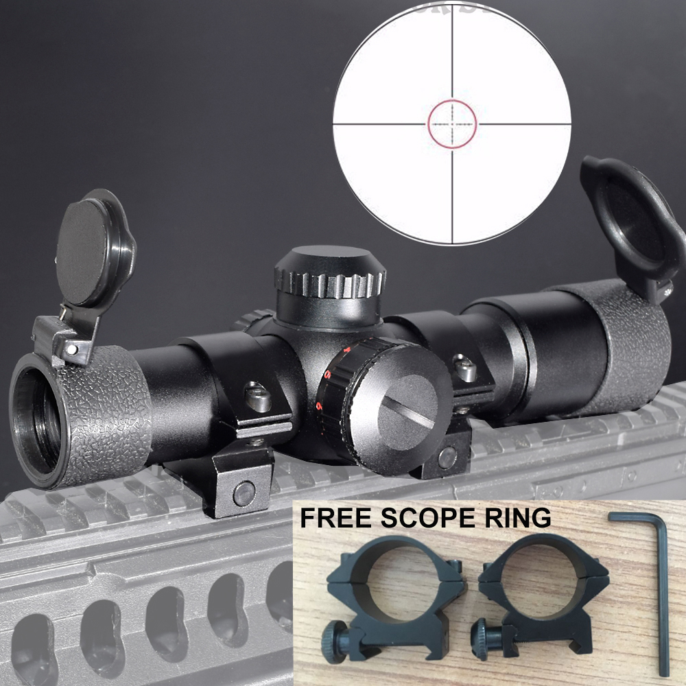 WIPSON Tactical Hunting Optics sights AK47 AK74 AR15 Hunting scopes 4.5X20 Red Illumination Mil-Dot Riflescopes with Ring Mount ohhunt 2 5 10x40 aoir hunting optics sights rgb half mil dot illumination reticle with windage elevation lock reset rifle scopes