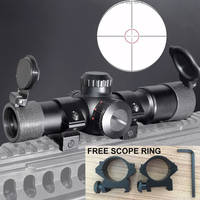 WIPSON Tactical Hunting Optics Sights AK47 AK74 AR15 Hunting Scopes 4 5X20 Red Illumination Mil Dot