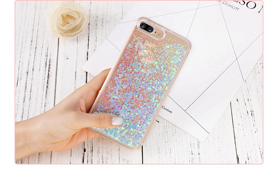 Glitter Quicksand For iPhone 6 6S 7 Plus 5 5S SE 4S Case For Samsung S6 S7 Edge Plus S5 S4 A5 A7 2016 G530 Note 4 5  (6)