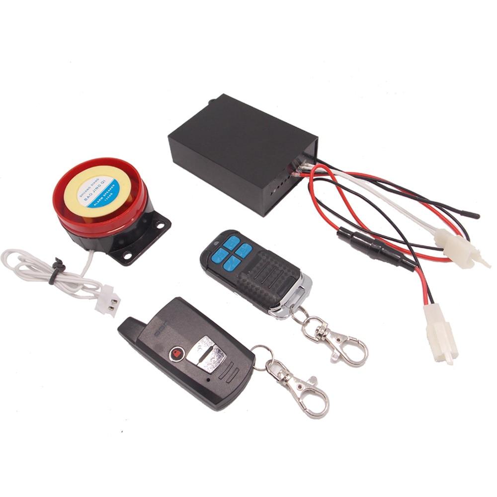 Système d'alarme universel pour Scooter Alarme de démarrage à distance pour Moto Alarme antivol pour Moto