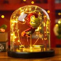 Hero Spider LED Table Lamp Marvel Super Iron Man Hulk Deadpool LED Lamp Night Light Multicolor Christmas Decor Kids Gift Toys