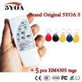4 Frecuencia de Lector de RFID Copiadora Escritor Programador + 5 Unids Regrabable EM4305 T5577 Keyfobs IDENTIFICACIÓN Etiquetas Card