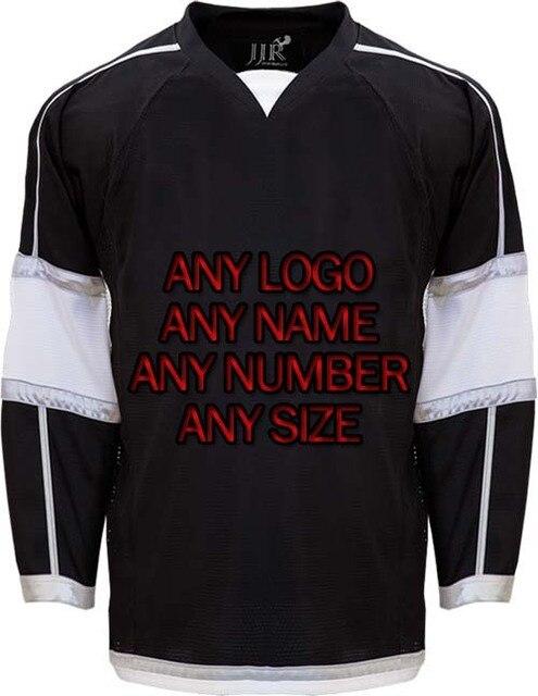 a14af0d4f Custom ICE Hockey Jerseys Replica Home Away Mens Vintage Jersey Black White  XXS-6XL