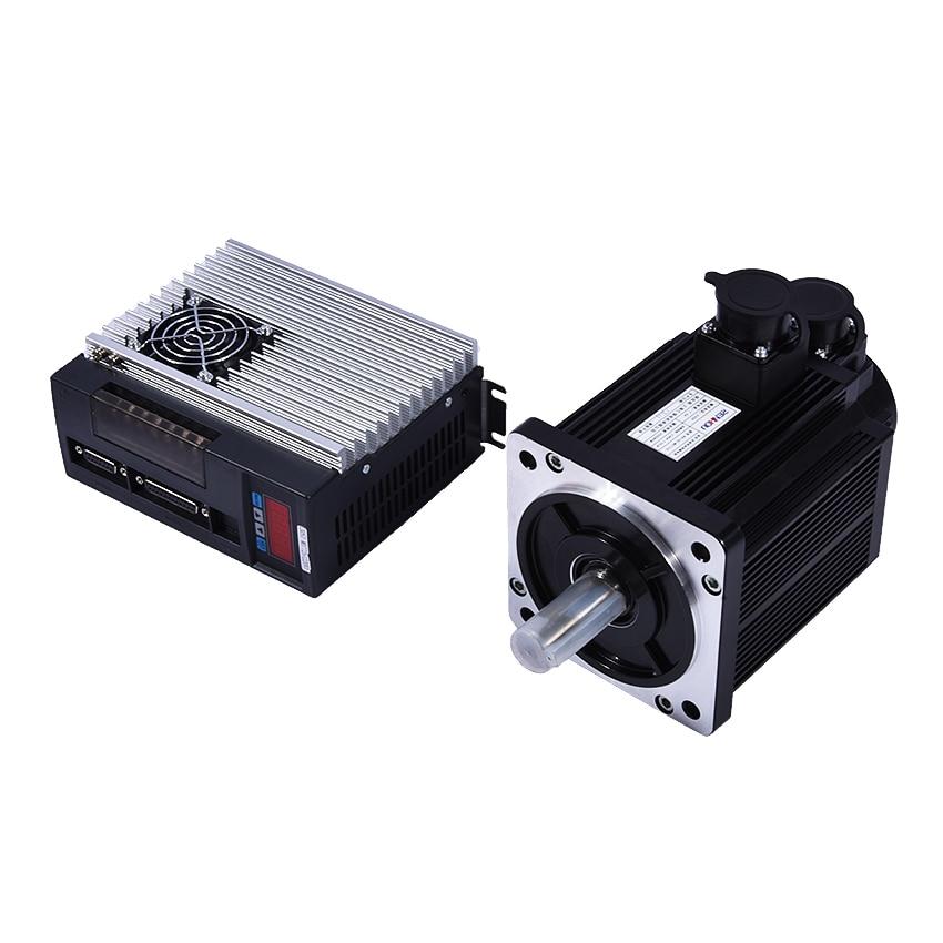 купить (130ST-M07725) Servo Motor 2KW 7.7N.M 2500rpm 130ST Single-phase AC Servo Motor+Matched Servo Driver With CE Certification недорого