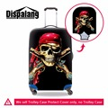 Dispalang Skull Waterproof Luggage Cover Patterns Cool Black Suitcase Protective Pirates elastic Luggage Protector 18-30 inch