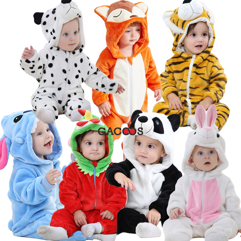 Gewidmet Baby Mädchen Kleidung Neue Geboren Baby Strampler Kinder Overall Winter Kigurumi Overalls Tier Kapuze Strampler Für Bebes Säuglings Kleidung