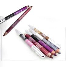 2 Color Make Up Beauty Pen Eyeliner Eye Liner Waterproof Pencil Matte Eyebrow Eyeshadow Cosmetics Eyes Makeup Tools