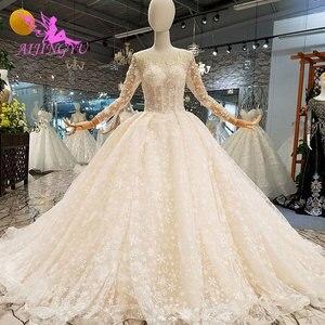 Image 4 - AIJINGYU فستان زفاف حقيقي العروس هاواي التركية حجم كبير الأفريقية صنع في تركيا الفاخرة دبي فساتين الزفاف