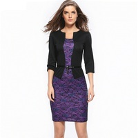 Women Office Dress 2017 Plus Size Clothing Work Pencil Business Dresses