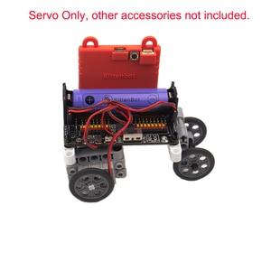 Image 4 - 4Pcs 270 Degree Programmable Gray Geek Servo Servos for LEGO for micro:bit Robotbit Smart Car Makecode for Kids Education MB0002