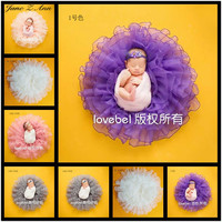 Baby Photography Props Flower Blanket Basket Filler Newborn Fotografia Accessories Infant Toddler Studio Shooting Photo Props
