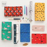 8 Styles Japanese Creative Kawaii Cute Cartoon DIY Notebook Leather Bound Travel Journal Diary Planner Agenda
