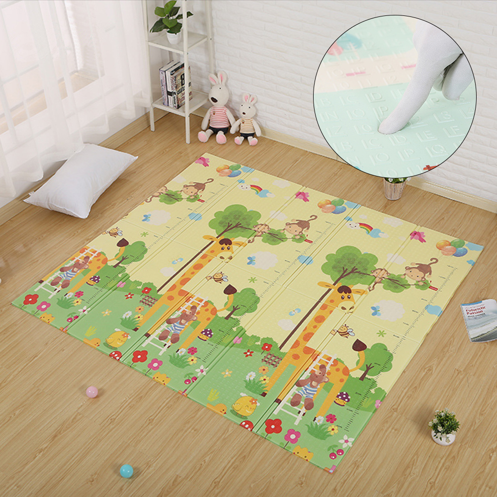 Children Play Mat Waterproof Kids Mat Cartoon Puzzle Carpet In The Nursery Rug Crawling Mat Toy For Baby Game Developing Mats baby developing rug fitness shelf tapete infantil puzzle mat gym play mats toys for kids