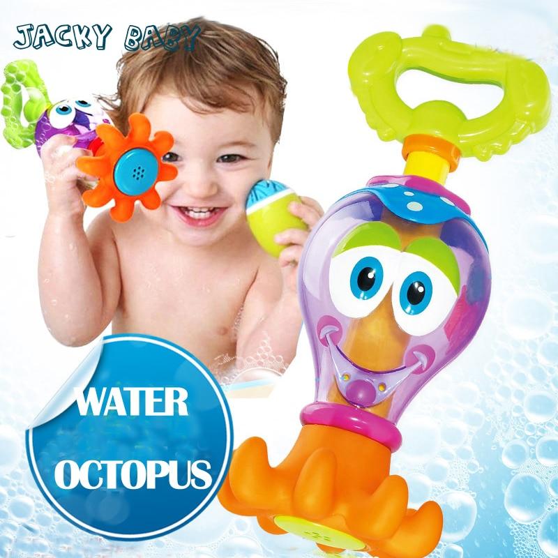Bébé Jouets Pour le Bain 18 Mois + ABS Poulpe Bebek Oyuncak D'eau Jouets Pour Bébé Brinquedos Para Bebe