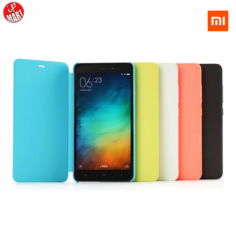 100 Original Xiaomi Redmi Note 3 Case Smart Flip PU Leather Hybrid Cover Protective Case For