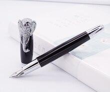 قلم حبر فوليوين رأس على شكل فيل ، قلم توقيع أسود دقيق ، أدوات مكتبية متوسطة الحجم للمكتب واللوازم المدرسية المنزلية