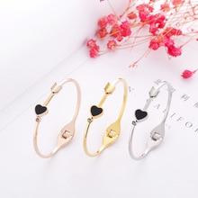 Jewelry & Accessories/Fashion Jewelry/Titanium steel /rose gold bracelet /Love arrow couple bracelet wholesale недорого