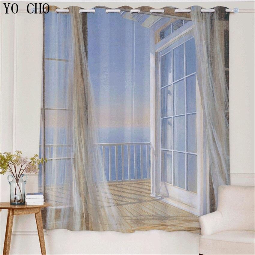 yo cho nueva d modern beach scenic seaside cortinas cortinas para el dormitorio dormitorio cortinas