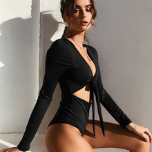 BONJEAN Autumn Backless Romper Black Sexy Slim Women Club Spring 2018 Skinny