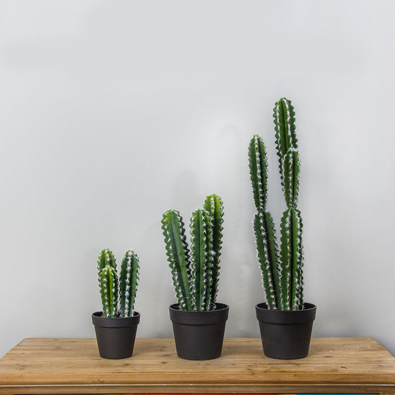HOT Artificial Flocked Prickly Pear Succulents Cactus Green Plants Fake Flowers Balls DIY Home Table Decor Desert Plants Land