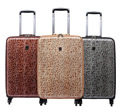 20 inch women Leopard printing spinner Trolley travel suitcase carry on rolling luggage abs