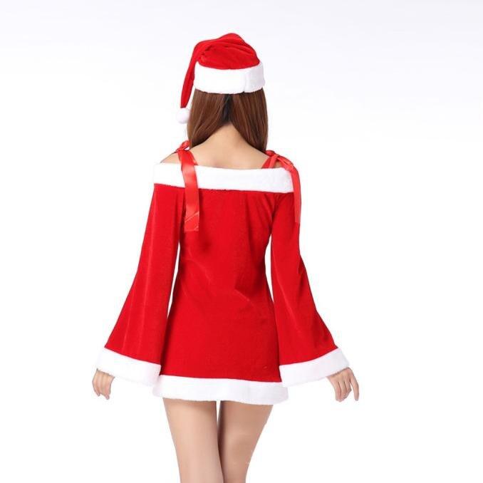 Christmas Dress Women Ladies Sexy Santa Costume Women Mrs Christmas ... 21bcaeec38d4