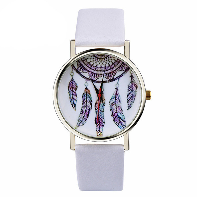 Women Watches bracelet watch Leather Band Analog Quartz Vogue Wrist Watch Dreamc