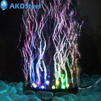 AKDSteel MultiColor Changing Underwater Submersible Aquarium Bubble Light 12 LEDs Air Bubble Lamp Round Shape Diameter