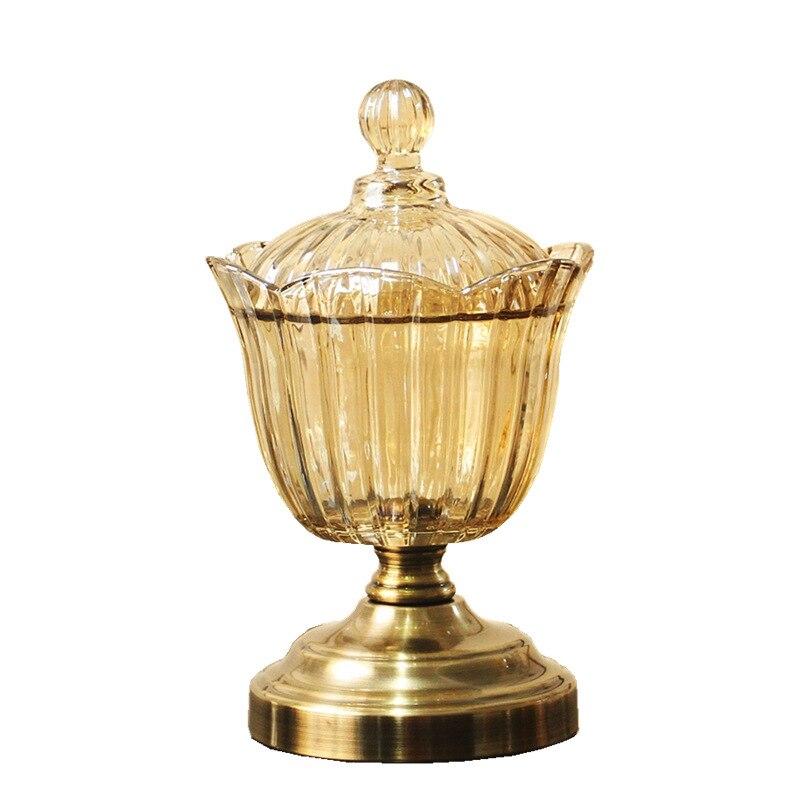 Europe classique canettes de sucre maison salon doux décoration stockage ustensiles verre bonbons canettes ornements artisanat cadeaux de mariage