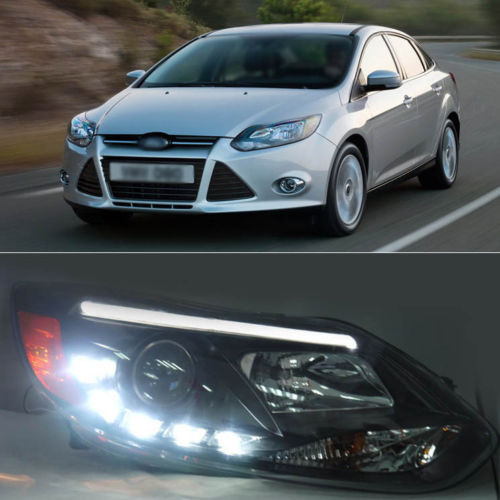Ownsun Innovative Super LED Light Xenon Bar Projector Lens Headlight for 12 Ford Focus ownsun new style tear drop led projector lens headlight for new ford focus 2012 2013