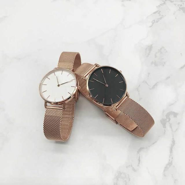 Luxury Stainless Steel Strap Quartz Wrist Watch