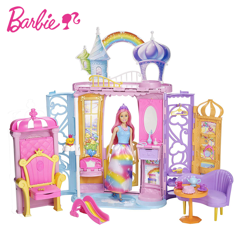 Original Barbie Seriesand Shine Girls Boneca Brinquedos Beautiful Princess Castle Dream Toys for Children Dolls Furniture GiftsOriginal Barbie Seriesand Shine Girls Boneca Brinquedos Beautiful Princess Castle Dream Toys for Children Dolls Furniture Gifts