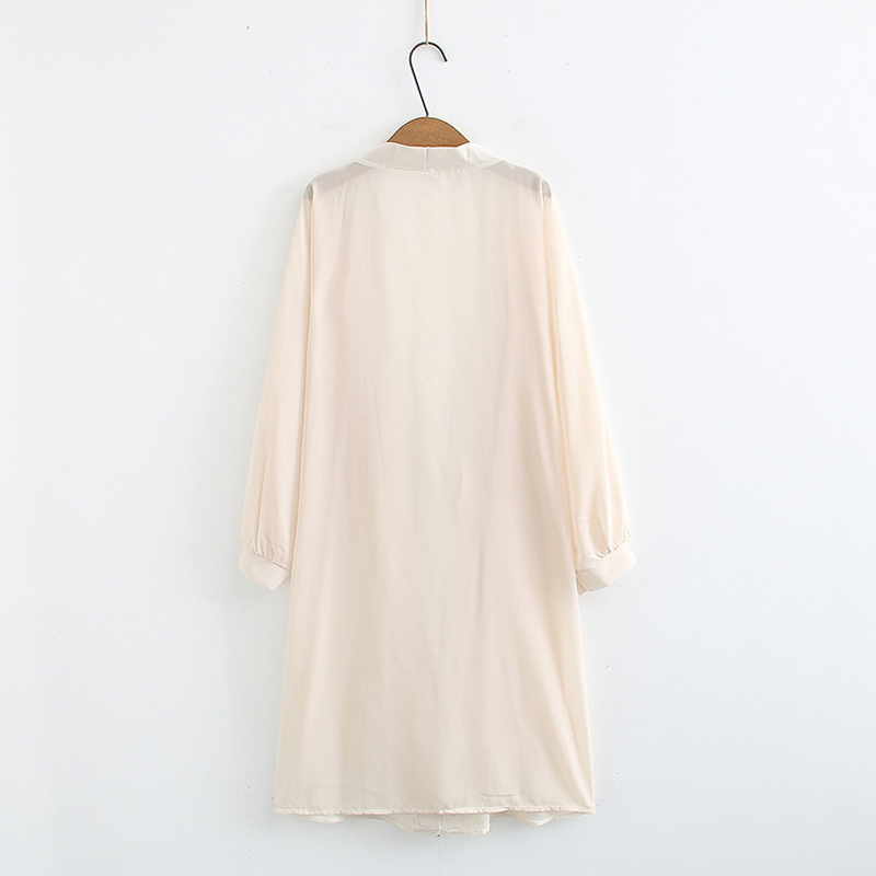 Women Transparent Long Jackets Summer Net Cardigan Casual Long Lantern Sleeve Thin Coats Ladies Beach White Outerwear 2019 New in Jackets from Women 39 s Clothing