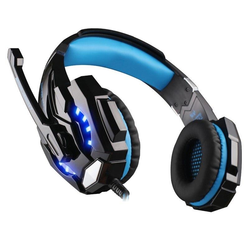 KOTION EACH G9000 3.5mm Stereo Headset w Mic USB LED Light for Laptop Desktop US