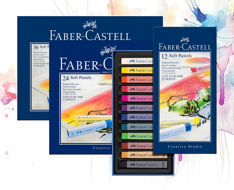 Faber-Castell Creative Studio Soft tizas pastel blandas 24 unidades