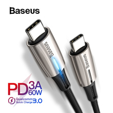 Baseus USB Type C Cable to USB Type C for Redmi Note 7 Pro Quick Charge 4.0 Fast Charging USB Cable Type C for Samsung S9 S10