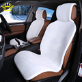 car seat covers set  White faux fur cute covers for car  interior accessories cushion styling winter new plush car  pad seat i25