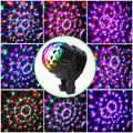15 צבעים DJ דיסקו כדור אור 5 w קול הופעל לייזר מקרן RGBP שלב תאורת אפקט מנורת חג המולד אור מוסיקה KTV המפלגה