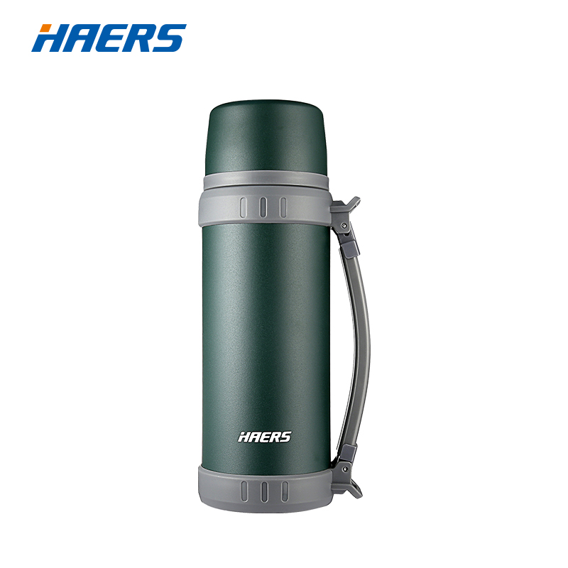 Haers 1100ml Durable Outdoor Vacuum Flask Double Walled Stainless Steel Portable Beverage Bottle with Built in
