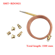 Earth Star 1 Set 1500mm Gas Furnace Universal Thermocouple M6x0.75 With Five Nut Replacement