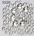 Super Brilhante 1440 Pc/pacote SS20 4.6-4.8mm de Cristal/Clear Pedra Glitter Não Hotfix Para Nail Art Decorações Strass Flatback 20ss