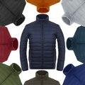 2016 portátil fino plus size gola para baixo casaco masculino Masculino jaqueta de pato para baixo casaco de forma Magro