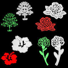 Different Flowers Cutting Dies For Scrapbooking Photo Album Embossing DIY Paper Cards Making Decorative Stencil Craft