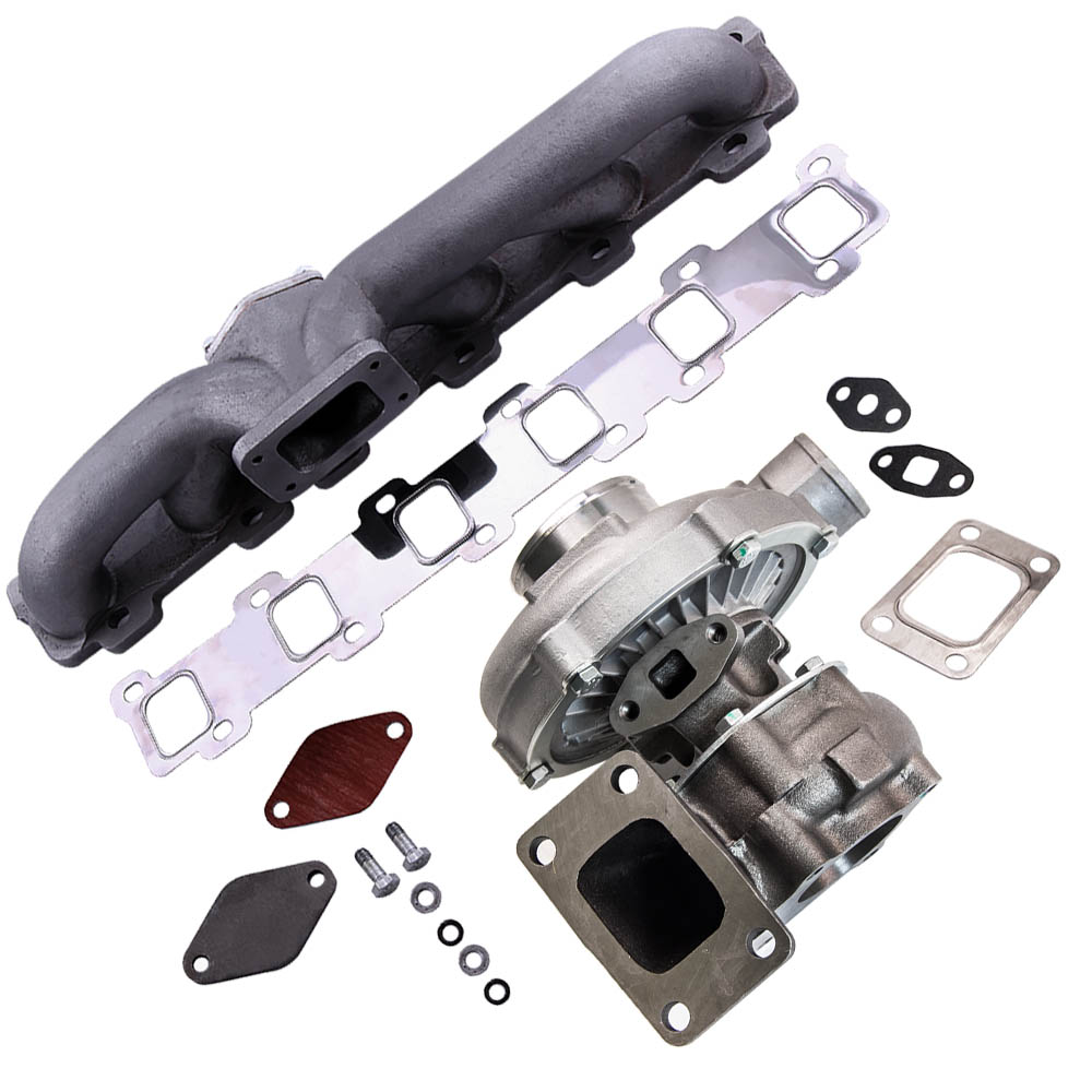 T3T4 Turbo Turbocharger Oil Line+Manifold Kit For Nissan Patrol Safari Y60 Y61 T3T4 T04E T3 T4 A/R .63 for 3.2L 5.0L 1.6L 2.5L