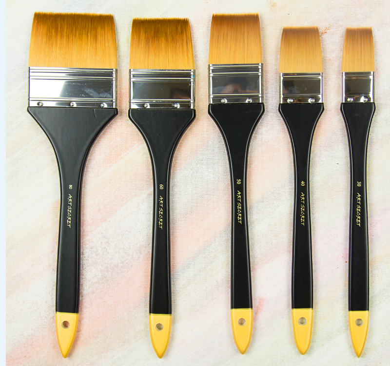3921 high quality korea importing synthetic hair brass ferrule wooden handle multifunctional paint art supplies artist brush