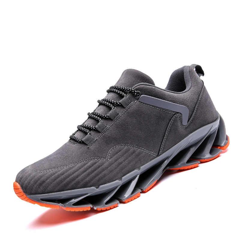 גברים כרית סניקרס זמש עור ספורט גברים נעלי 2019 הקיץ Autuam חיצוני נעלי ריצה לגבר שרוכים מיוחד בלעדי נעל