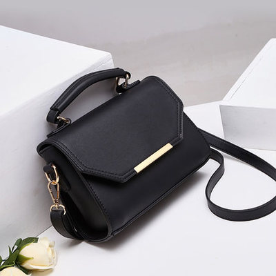 Bag 2018 women's new leather leather shoulder bag simple leather handbag slanting small square bag Molly new arrival crocodilian veins embellished handbag slanting bag for female